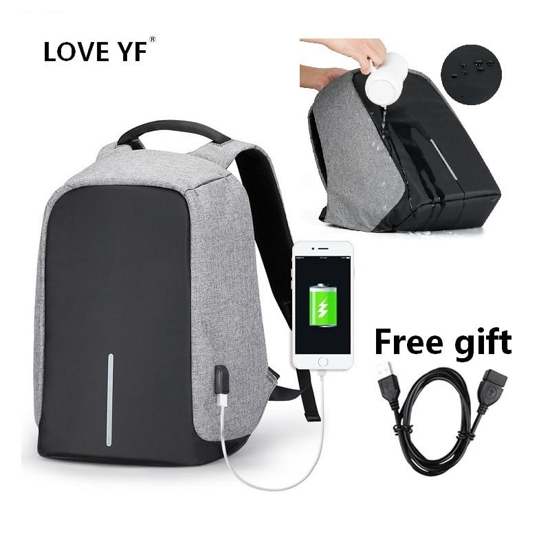 Waterproof Backpacks Intelligent Anti-theft Backpack USB Student 15.6 Inch Laptop School Bags Travel Backpack Mochila Con Compar