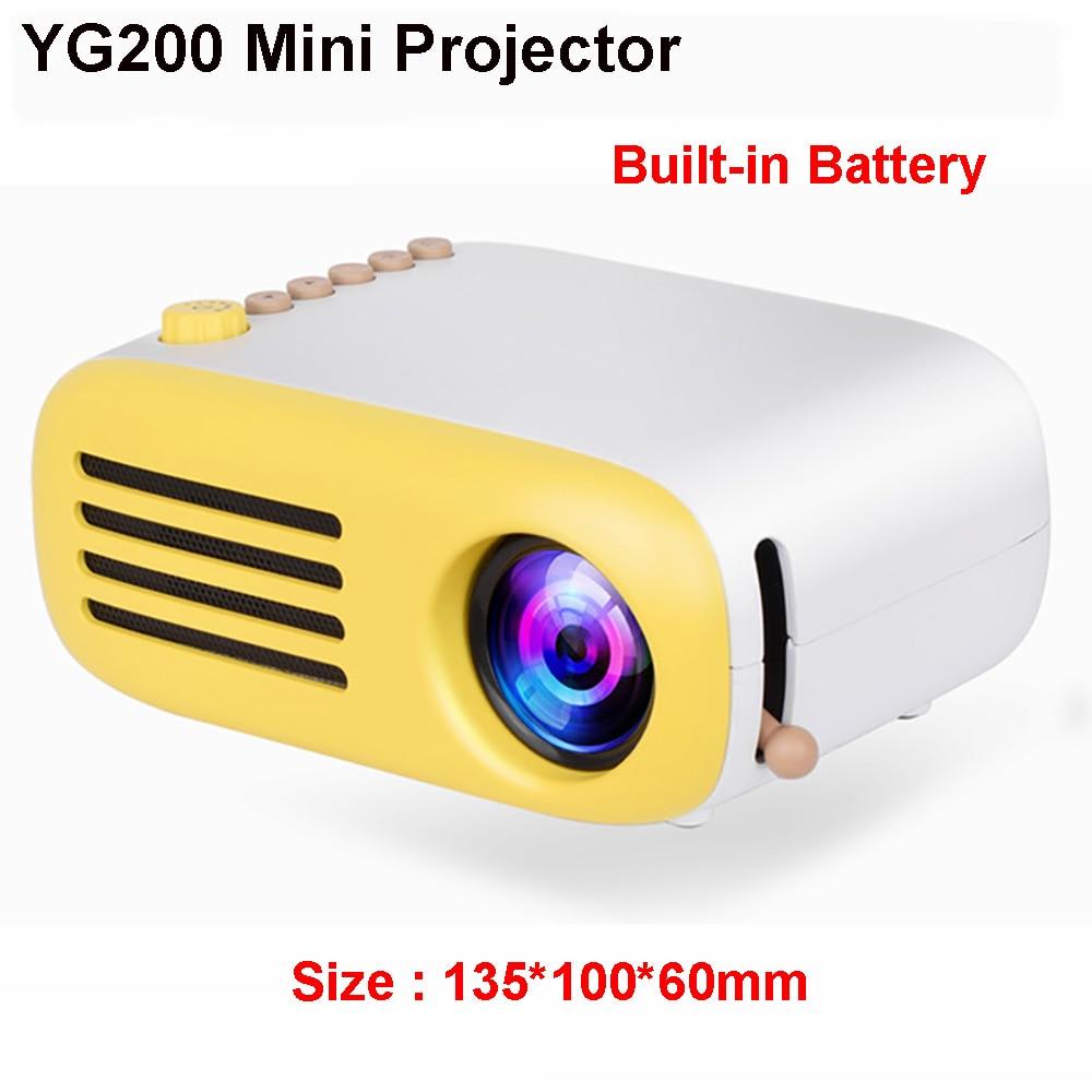 Portable Projector Yg320-Upgrade YG200 Battery Beamer Video Optional Mini Home LED Usb-Hdmi