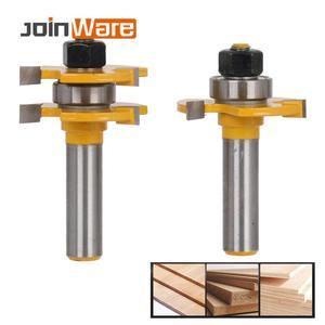Image 1 - 2 Pc לשון & חריץ משותף הרכבה נתב קצת סט המניה עץ חיתוך כלי 12.7mm שוק