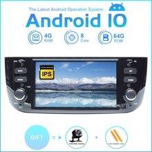 ZLTOOPAI autoradio Android 10.0, 8 cœurs, Wifi/3G/4G, lecteur multimédia pour voiture Fiat, Linea, Punto evo (2012 2015)