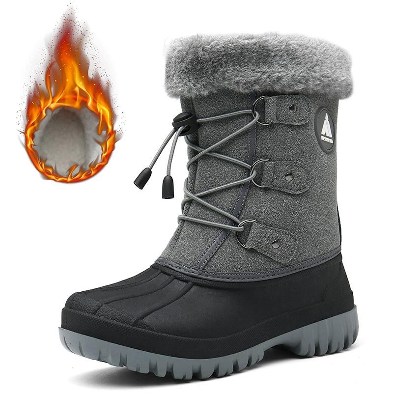 Warm Girls Boots Winter Kids Boots Plush Snow Boots Boys Outdoor Sneakers Children Cotton Shoes Mid-Calf Boots Tenis Infantil