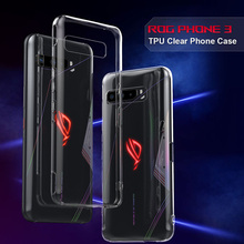Case For Asus Rog Phone 3 Soft Luxury Transparent Shockproof Clear Thin Silicone Cases For Rog Phone 3 III ZS661KS Back Cover