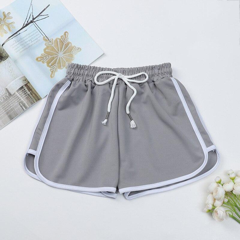 Fashion Summer Casual Shorts Woman Stretch Elastic Waist Booty Shorts Female Black White Loose Beach Sexy Shorts S-XXL 5