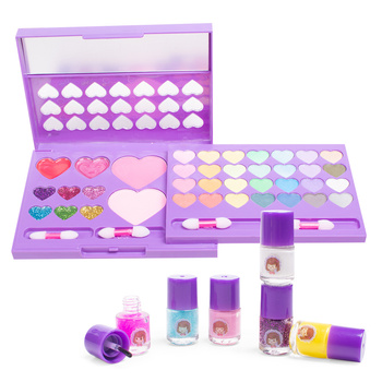 Princess Simulation Cosmetics Movable Cosmetic Palette Cosmetic Toy Set Powder Eyeshadow Cosmetic Set DIY Makeup Toy