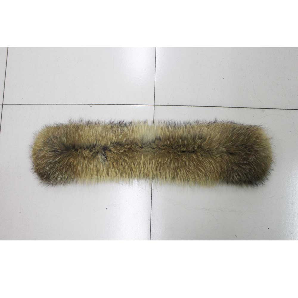 Image 4 - Linhaoshengyue 70cm  Winter Real Natural  raccoon fur hood  collar ,High quality Raccoon fur fashion Coat collar cap collar-in Women's Scarves from Apparel Accessories