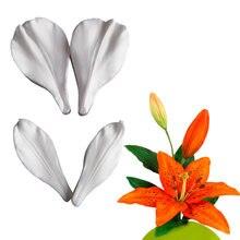 Новая силиконовая форма lily veiner для помадки инструмент украшения