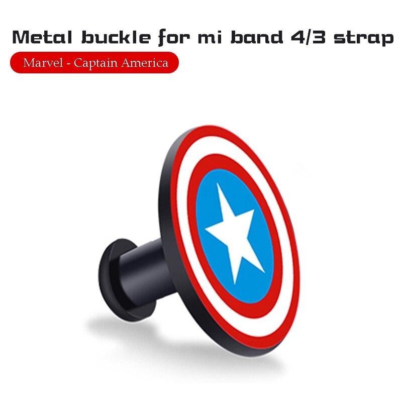 Для Xiaomi Mi Band 4/3 ремешок Металлическая пряжка силиконовый браслет аксессуары miband 3 браслет Miband 4 ремешок для часов М - Цвет: Captain America