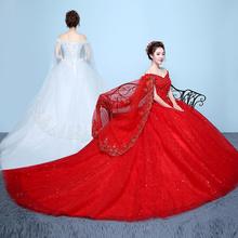 Suknia ślubna suknia ślubna V Watteau krótki kimonowy rękaw suknia ślubna real plus rozmiar suknia ślubna długi tren vestidos de noiva tanie tanio sceamout V-neck Długość podłogi Sweep brush pociąg Bez rękawów Lace up Organza Aplikacje Frezowanie Naturalne Suknia balowa