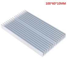 100*60*10mm diy cooler alumínio dissipador de calor grille forma radiador dissipador de calor chip para ic led power transistor