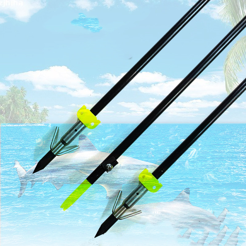 3/6/12pcs Fishing Black Fiber Glass Shaft Arrows Hunting Fish Target Arrows For 20-65 Lbs Compound Bow