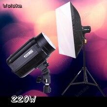 Вспышка софтбокс Свет Стенд Комплект 220 Вт фотостудия комплект освещения для продукта фотостудия камера оборудование CD50 T10