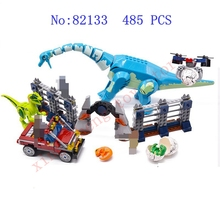 цена Jurassic World Brutal Raptor Building Blocks Dinosaur Figure Brick Compatible with legoinglys Children's Toys Educational Gifts