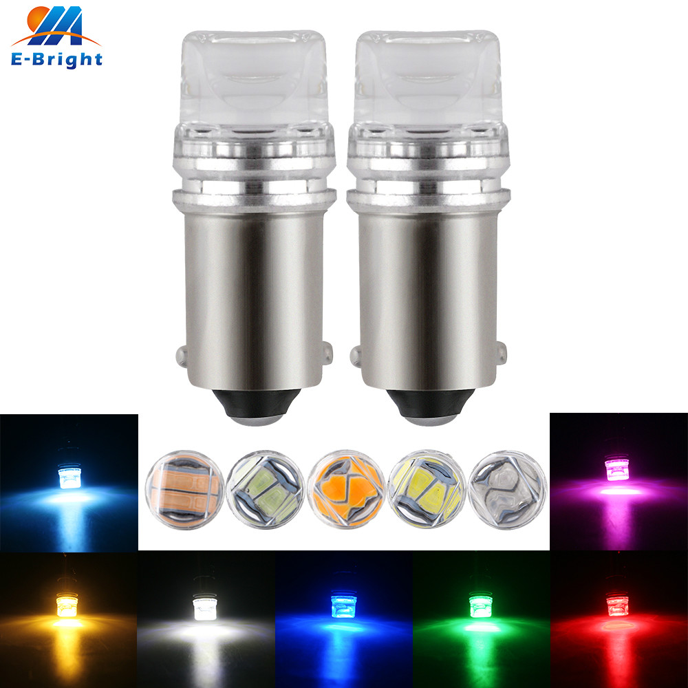 10X 6V 6.3V DC T11 T4W BA9S H6W 3886X 1895 1SMD 5630 2 SMD LED Side Light Bulb White Blue Red Green Amber Pink Warm-white