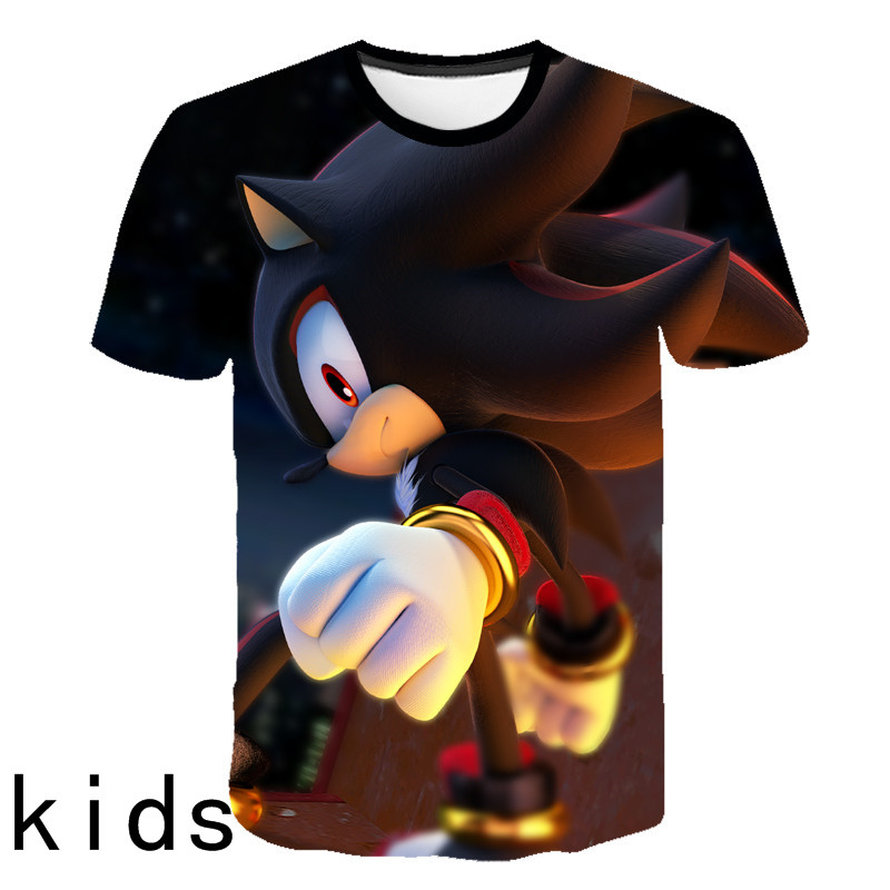 Kids 3D Cartoon Sonic Game Print T-shirts Costume Boys T Shirt Girls Summer T-shirt Clothing Children Tee Tops Clothes 2020 New