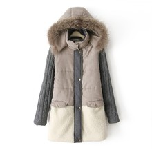 2019 Long Cotton Coat Down Thick Female Warm Winter Women Fur Collar Parka Plus Size Lapel Casual Womens Outwear
