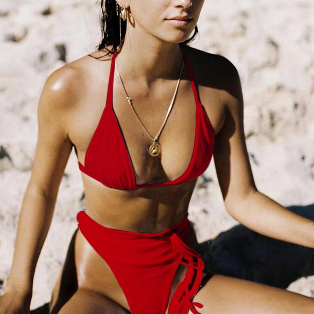 ZTVitality Sexy Push Up Bikini 2020 Hot Sale Padded Bra Thong Bikinis High Waist String Swimsuit Female Biquini Swimwear Women 3