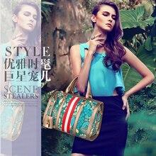 New high quality large capacity Fashion flower printing Single shoulder ladies handbags and purses Romantic PU Free shipping