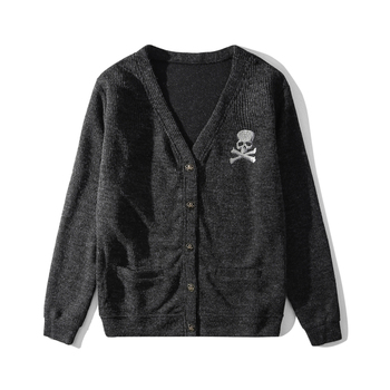 Mastermind Japan Cardigan Sweater Men Long Sleeve Cardigan Mens V-Neck Sweaters Button Single Breasted Knitting Casual Clothing цена 2017