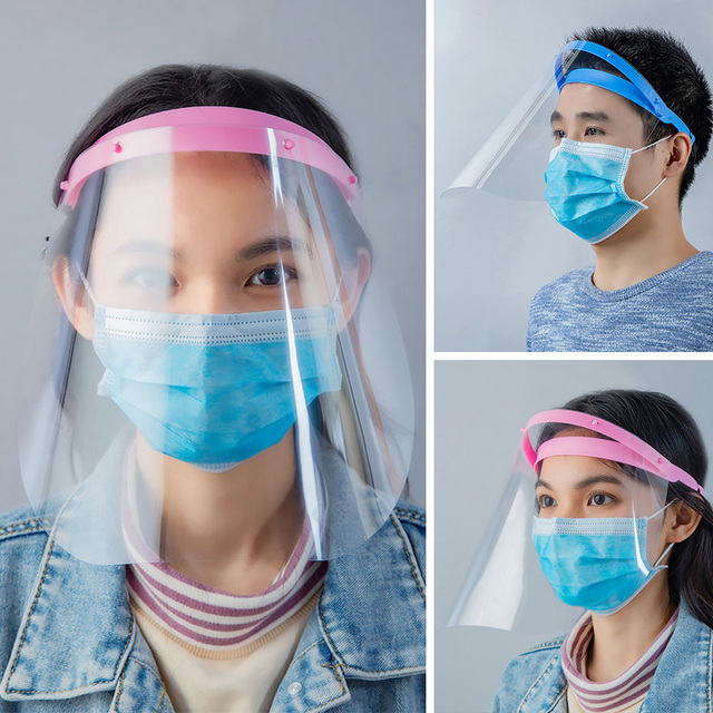 Anti-Saliva Dustproof Protective Isolation Mask Transparent Safety Face Shield Cover Spare Visors Head Full Facial Protection