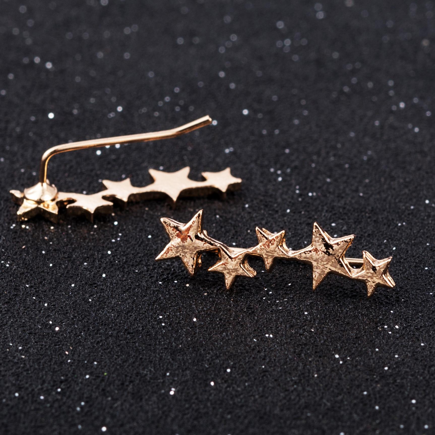 Fashion Statement Earrings 2019 Metal Star Moon Geometric Earrings For Women Hanging Dangle Earrings Drop Earing Modern Jewelry