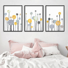 Nordic Dandelion Art Canvas Painting Posters And Prints Modern Wall Pictures For Living Room Home Decor No Frame