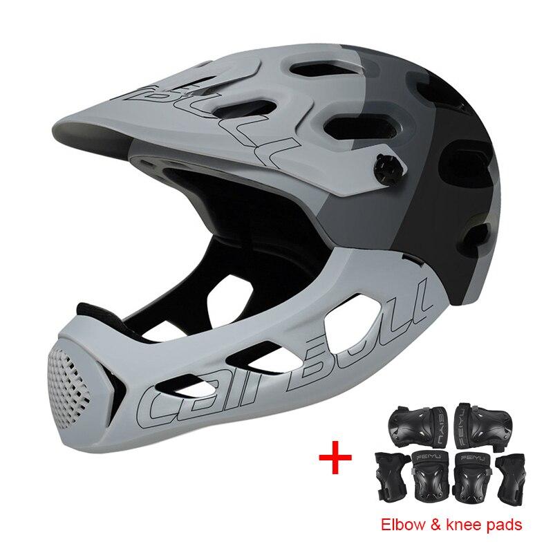 Велосипедный шлем Cairbull для взрослых с полным лицевым покрытием, шлем Casco MTB для горной дороги, велосипедный шлем с полным покрытием, мотоцикл... - 3