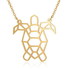 Fnixtar 316L Stainless Steel Never Tarnish Sea Turtle Charms Pendant Necklace for Women Necklace Fashion Jewelry Best Gift(China)
