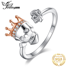 JPalace Skull King Crown Cubic Zirconia Rings 925 Sterling Silver Rings for Women Stackable Ring Silver 925 Jewelry Fine Jewelry цена и фото