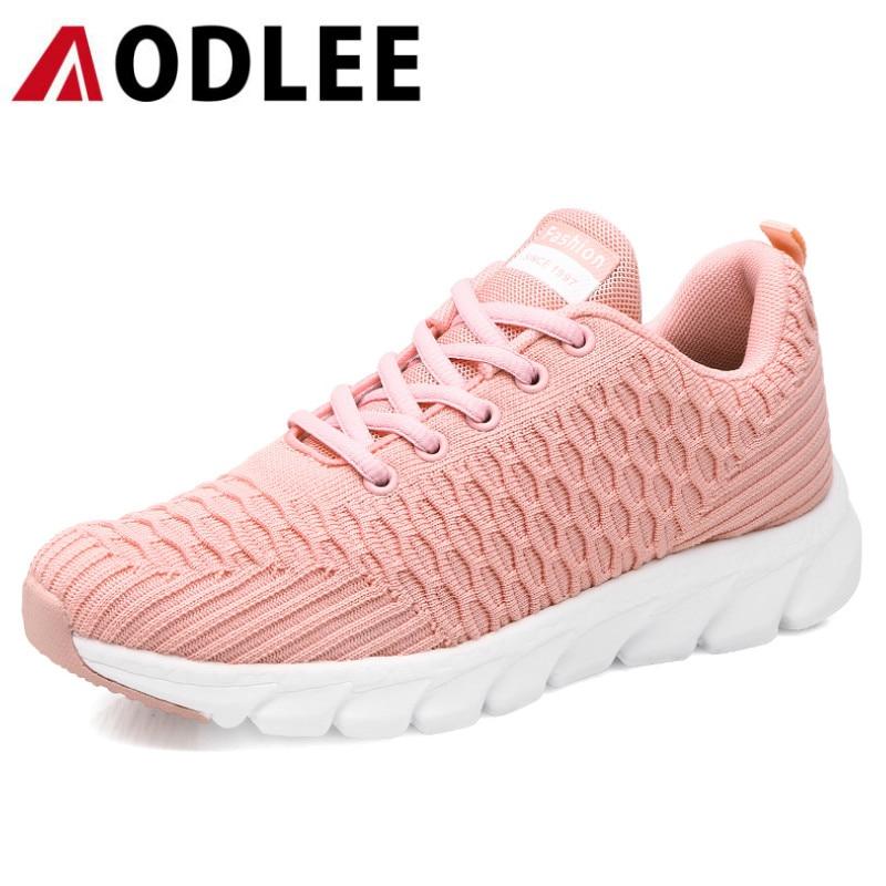 AODLEE  Women Walking Flats Shoes Women Light Sneakers Mesh Tenis Feminino Casual Shoes Vulcanize Breathable Trainers Shoes