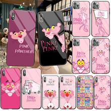 Cute pine panther Bling Cute Phone Case Tempered Glass For iPhone 11 Pro XR XS MAX 8 X 7 6S 6 Plus SE 2020 case panther page 8