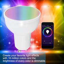 Led E27 GU10 GU5.3 Smart LED Bulb WiFi Light Bulb Dimmable Light Smartphone Controlled Light 6W