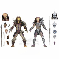 Predator Ultimate Bad Blood vs Enforcer 7 Action Figures Dark Horse Comic Book Series Original NECA 2018 Collectible Doll Toys