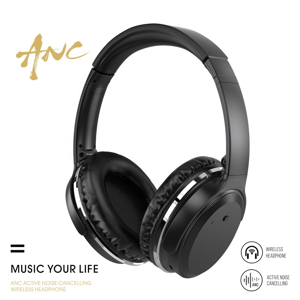 XMXCZKJ Wireless Bluetooth Headphones Over Ear Active Noise Cancelling wireless Headset with microphone for Cellphone/Tablet