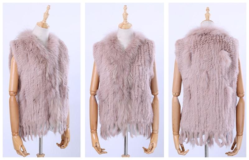 H00d4753a6f604200a37ef79f0bfe4d74c Brand New Women's Lady Genuine Real Knitted Rabbit Fur Vests tassels Raccoon Fur Trimming Collar Waistcoat Fur Sleeveless Gilet