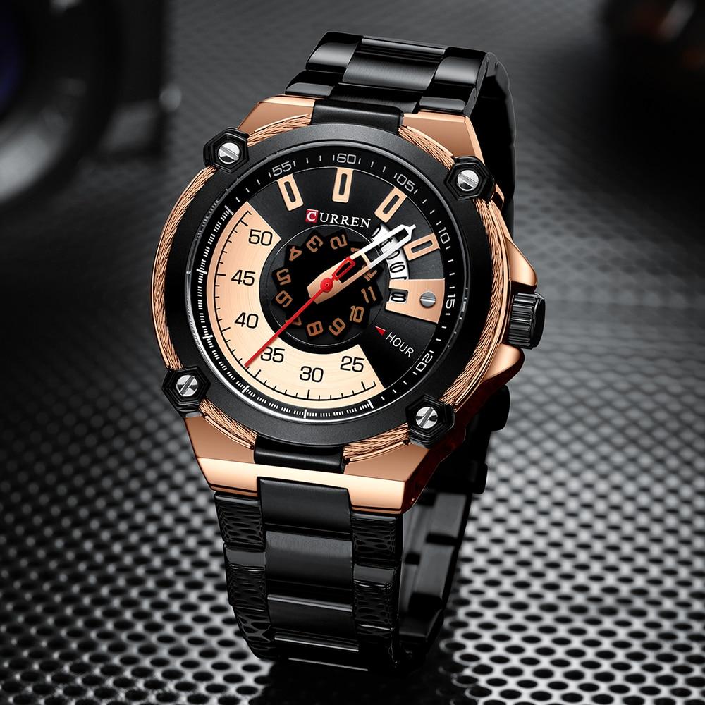 Image 4 - CURREN Design Watches Mens Watch Quartz Clock Male Fashion Stainless Steel Wristwatch with Auto Date Causal Business New WatchQuartz Watches   -