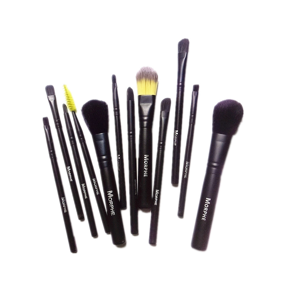 Morph Eye Makeup Brushes 12pcs Eyeshadow Makeup Brushes Set Soft Synthetic Hairs For Eyeshadow, Eyebrow, Eyeliner, Blending