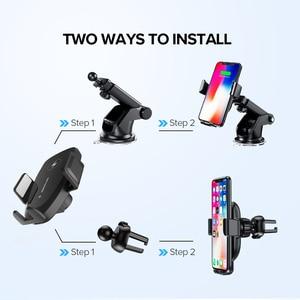 Image 5 - 10W araç kablosuz şarj için samsung s10 artı QI kablosuz hızlı şarj araç telefonu tutucu iPhone Xiaomi Huawei için araç şarj