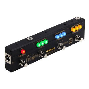 SONICAKE-Pedal de reverberación sónico para guitarra acústica, preamplificador DI Box, efectos múltiples,...