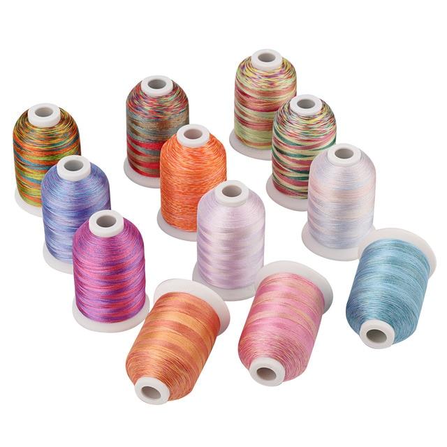S127-S138 wielobarwne nici do haftowania 1100Y do maszyny/haft ręczny pikowanie overlocking na dowolnych domowych maszynach do szycia