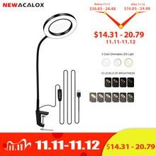 Увеличительное стекло 3X/5X NEWACALOX USB, настольная лампа с LED светильниками для чтения, рабочее освещение