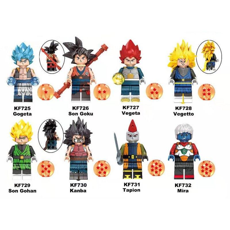 KF6069 Single Sale Building Blocks Dragon Ball Z Series Son Goku Vegeta Son Gohan Vegetto Action Figures Gifts Toys For Children