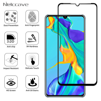 50 Pieces Full Coverage Protective 9H Tempered Glass For Huawei P30 P20 Pro P10 Plus P9 P8 Lite 2017 Screen Protector Cover Film