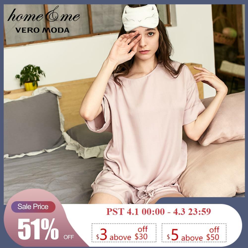 Vero Moda New Arrivals Round Neck Hem Drawstring Leisure Homewear Suit  | 3191TC505