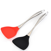 Silicone Spatula Non-Stick Flexible Cooking Spatula Shovel With Stainless Steel Handle Cooking Shovel Spatula Tools Accessories