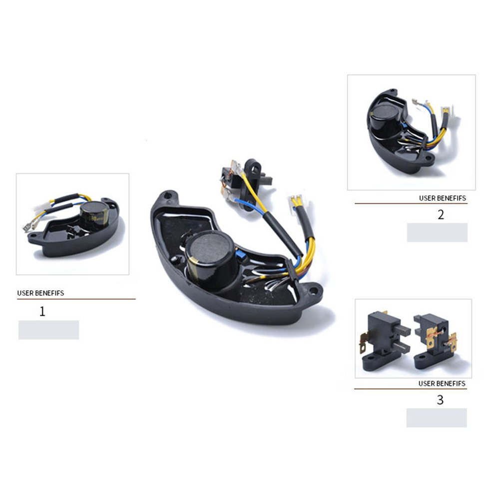 For Motorcycle For Honda Gasoline Generator 188f/190f Avr Gx390 Single-phase Voltage Regulator With Carbon Brush