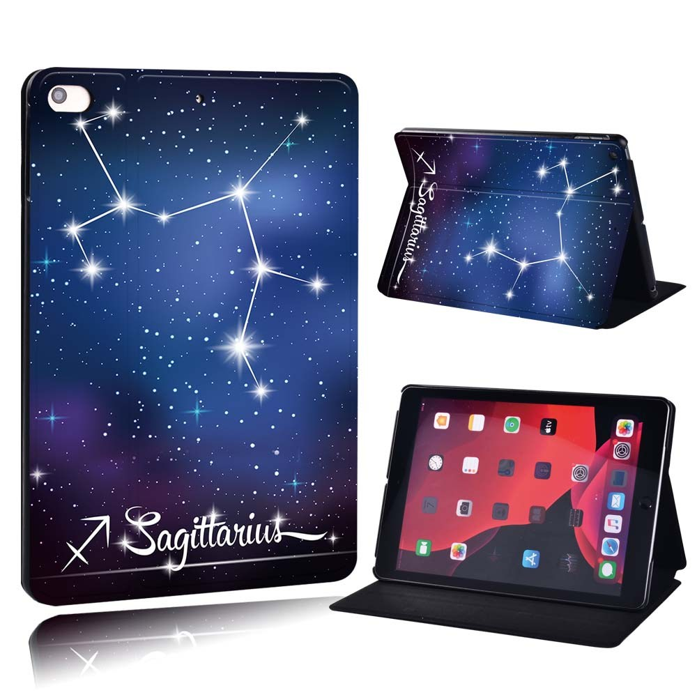 star sign - Scorpio Beige For Apple iPad 8 10 2 2020 8th 8 Generation A2428 A2429 PU Printed Star Sign