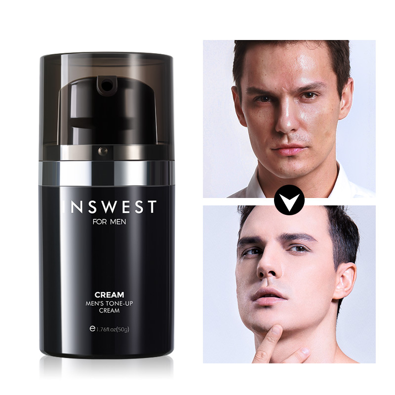 50ml Men's Whitening Face Cream Brighten Skin Tone Up Cream Anti Wrinkle Day Cream For Mens Moisturizing Whitening Acne Cream