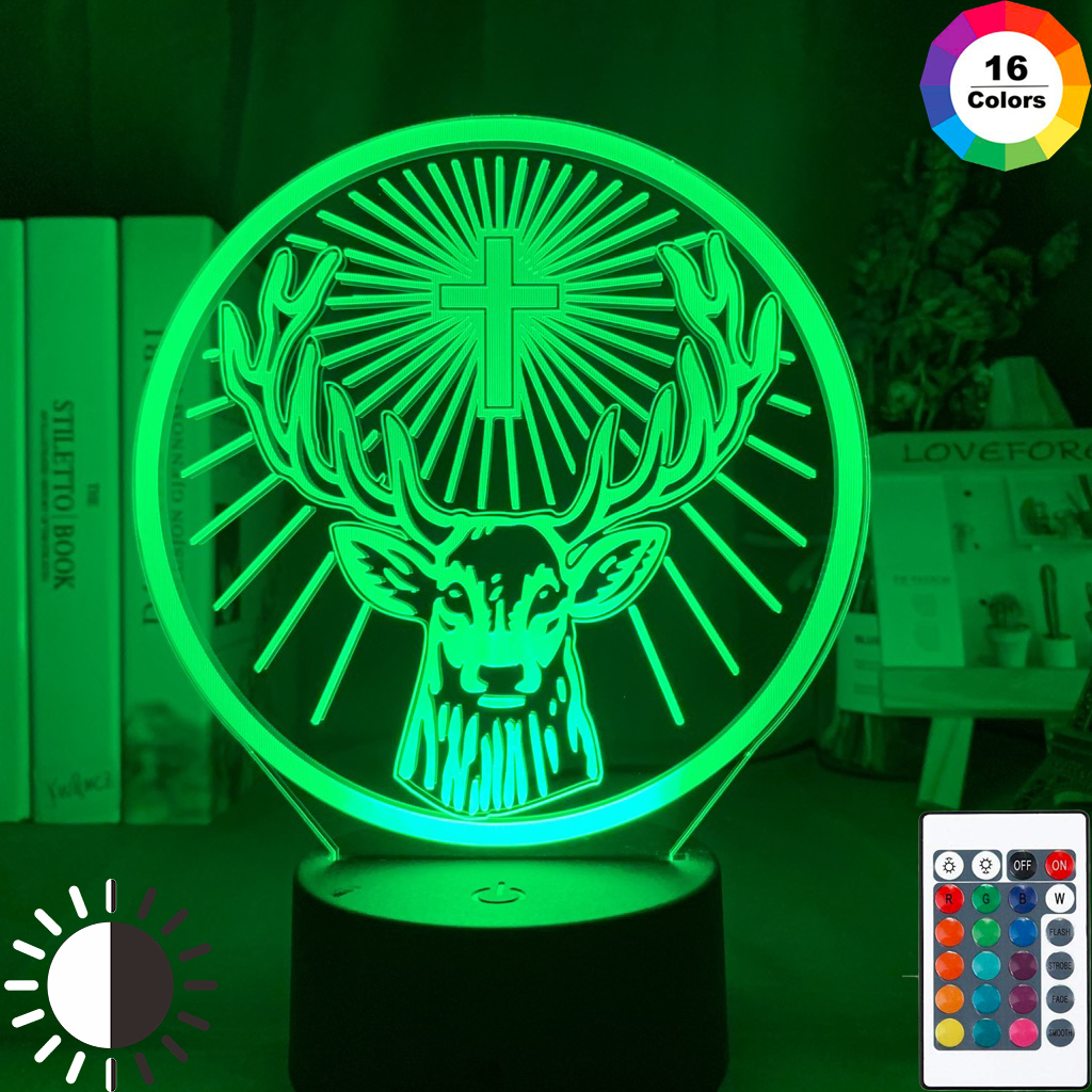 Led Night Light Lamp Jagermeister 16 Colors Changing Touch Sensor Usb and Battery Powered Nightlight for Bar Table Lamp
