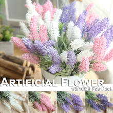 купить 5/10/20 Pcs Romantic Provence Lavender Flower Wedding Decoration Artificial Simulation Flowers Bridal Bouquet Home DIY Decor D25 онлайн