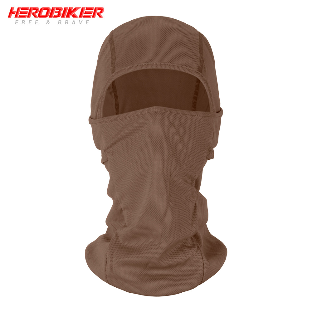 HEROBIKER мотоциклетная Балаклава маска для лица мото теплая ветрозащитная дышащая страйкбольная Пейнтбольная велосипедная Лыжная маска для лица мужской солнцезащитный шлем - Цвет: BE-03